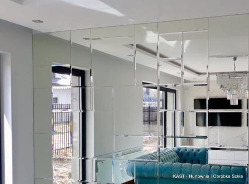 lustra fazowane w formie prostokątów