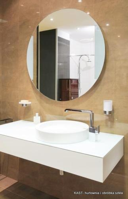 lustro łazienkowe okrągłe